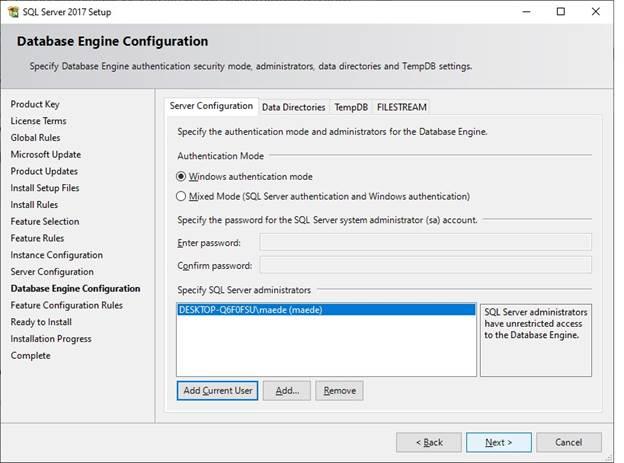آموزش نصب SQL server 2017