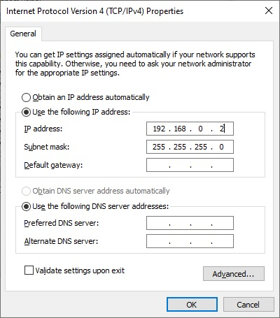 مقداردهی در شبکه کردن دو کامپیوتر