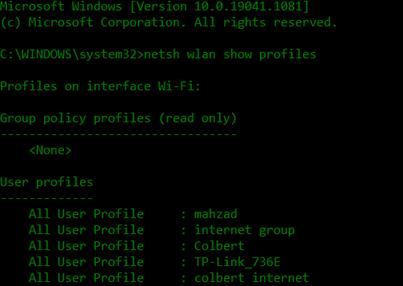 ساده ترین و سریع ترین روش دیدن رمز وای فای در ویندوز