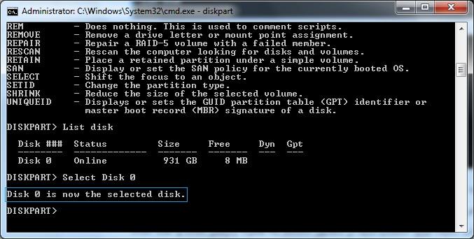 مدیریت هارد دیسک